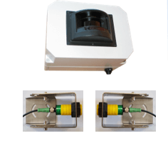 Laser for axles counting system