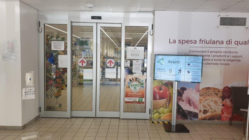 Contingentamento ingressi supermercati