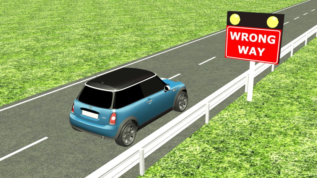Wrong way drive